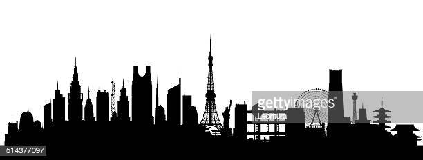 tokyo - tokyo japan stock illustrations, clip art, cartoons, & icons