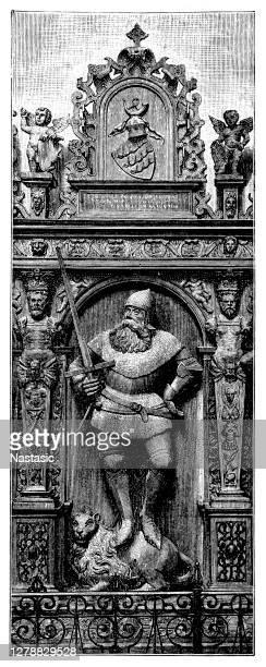 stockillustraties, clipart, cartoons en iconen met graf van hertog eberhard van württemberg in de belangrijkste kerk van stuttgart. - duke