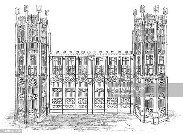 tomb of king edward iv and elizabeth woodville at st. george's chapel in windsor, england - 15th century - windsor castle stock illustrations