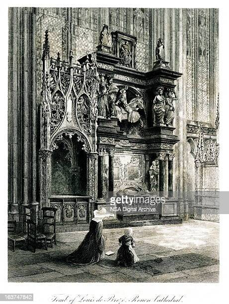 Tomb of Louis de Breze in Rouen Cathedral, France