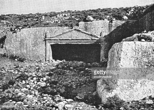 tombs of the sanhedrin in jerusalem, israel - ottoman empire - buried stock illustrations, clip art, cartoons, & icons