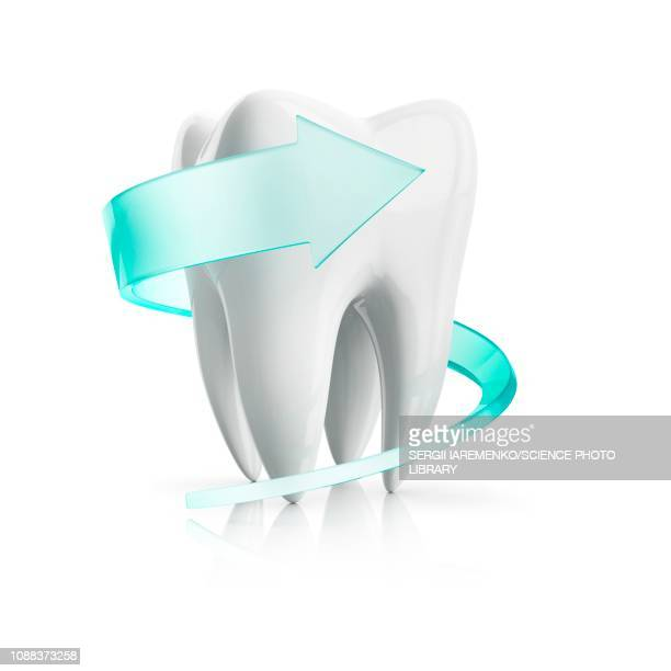 tooth protection, conceptual illustration - enamel stock illustrations