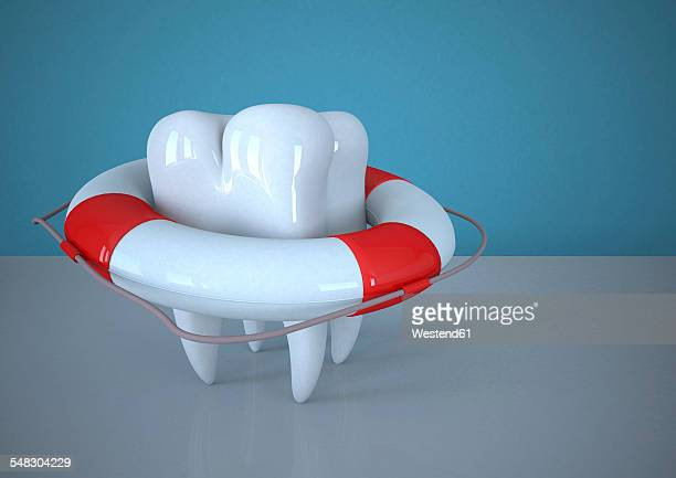 Tooth with lifebelt