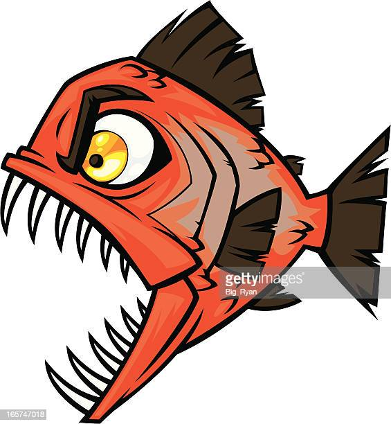 Piranha stock illustrations and cartoons getty images - Dessin piranha ...