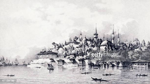 topkapi palace, istanbul - ottoman empire stock illustrations