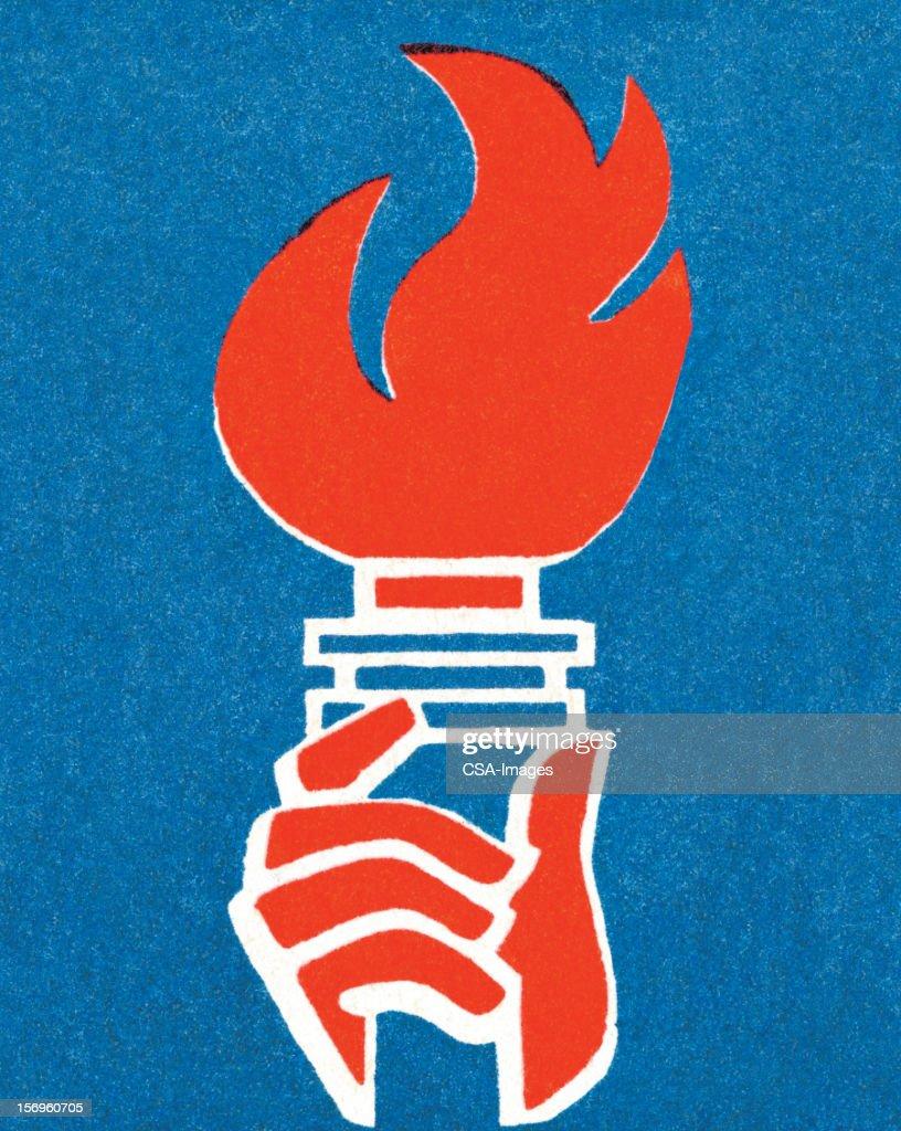 Torch : stock illustration