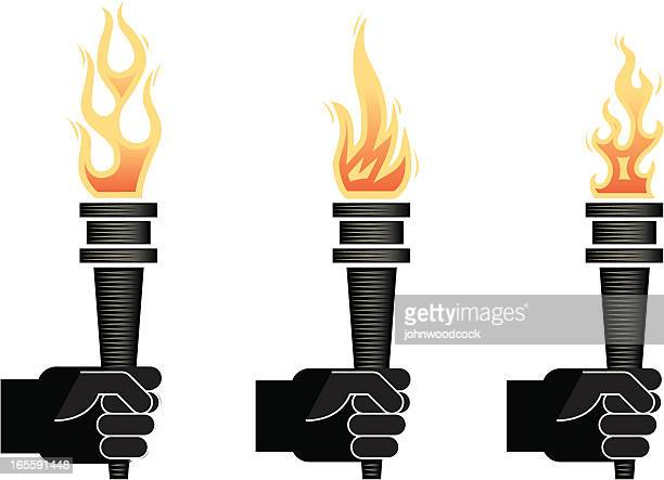 torch two - sport torch stock illustrations, clip art, cartoons, & icons