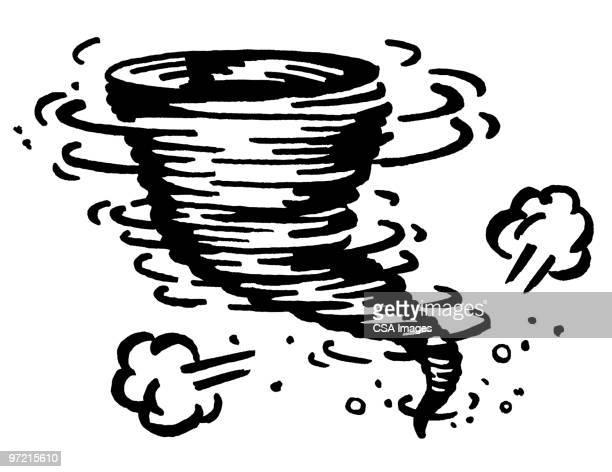tornado - rain stock illustrations