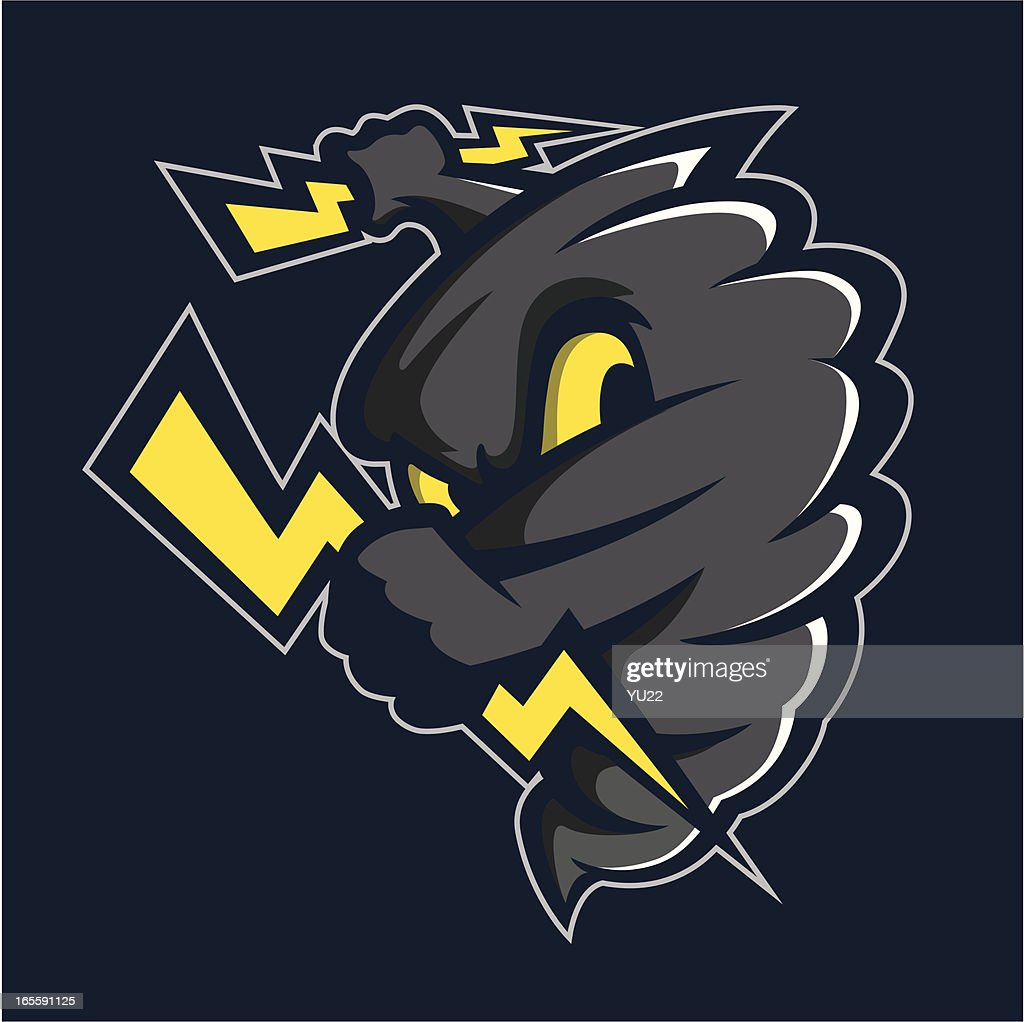 Tornado mascot : stock illustration