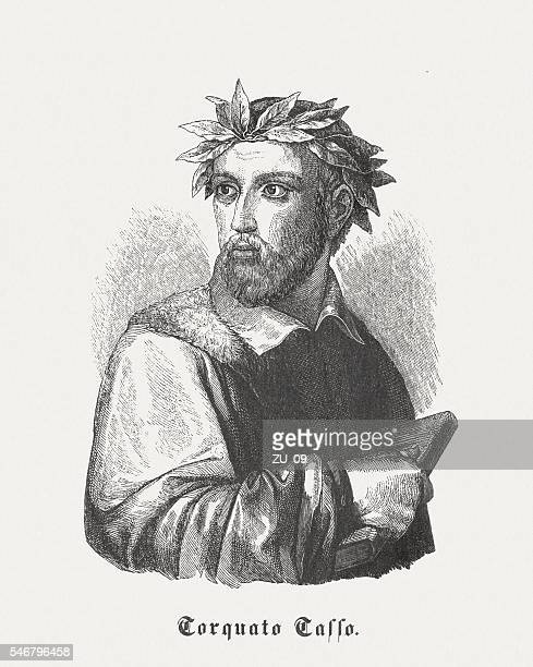 Torquato Tasso (1544-1595), Italian poet, wood engraving, published in 1848