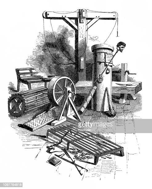 torture chamber - torture stock illustrations