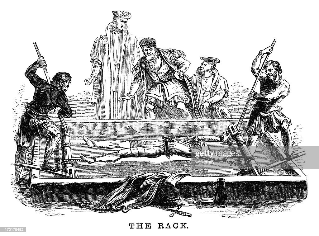 Torture on the Rack (Victorian woodcut) : Stock Illustration