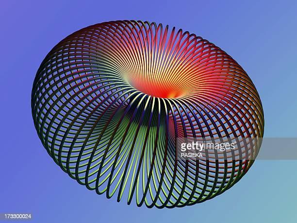 torus, artwork - wire frame model stock illustrations