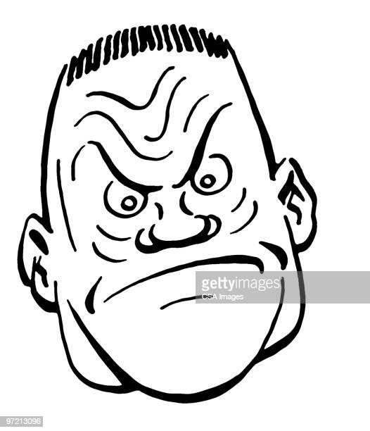tough guy - spleen stock illustrations