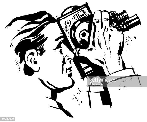tourist - camera operator stock illustrations, clip art, cartoons, & icons