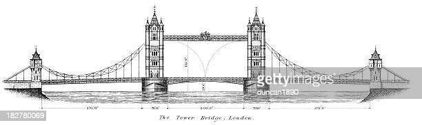 30 Meilleurs Tower Bridge Illustrations Cliparts Dessins