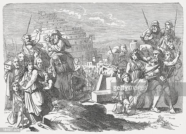 ilustrações, clipart, desenhos animados e ícones de torre de babel (genesis 11, 1-9 - spire