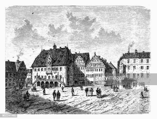 ilustraciones, imágenes clip art, dibujos animados e iconos de stock de ayuntamiento de la ciudad heilbronn - württemberg