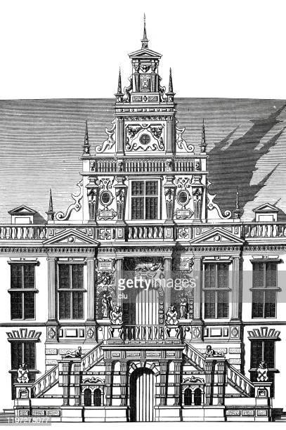 リーデン, オランダの市庁舎 - ライデン点のイラスト素材/クリップアート素材/マンガ素材/アイコン素材