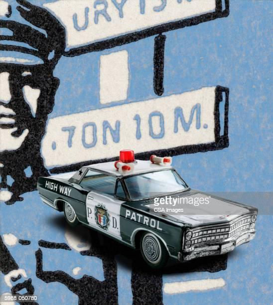 toy police car - uniform stock illustrations
