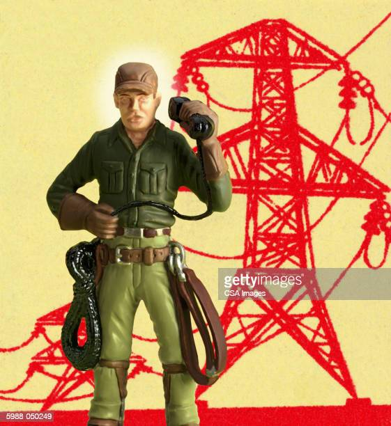 toy telephone lineman - phone cord stock illustrations, clip art, cartoons, & icons