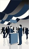 Trade show silhouettes