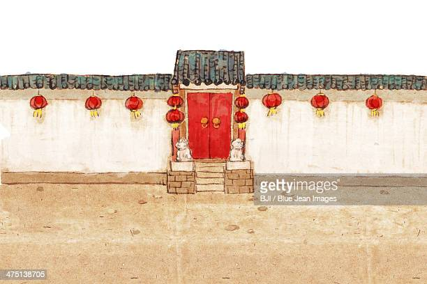 Traditional Chinese courtyard and alley