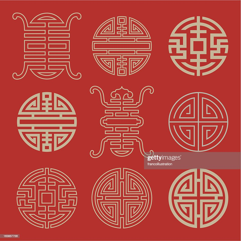 Traditional Chinese Lucky Symbols For Blessing People Having A
