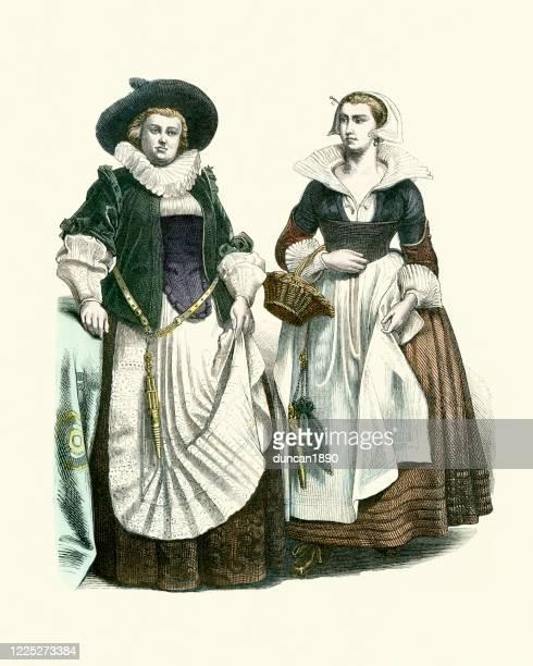 オランダの伝統的な市民の衣装 - 17世紀点のイラスト素材/クリップアート素材/マンガ素材/アイコン素材