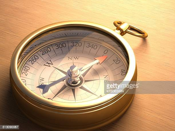Traditional compass, artwork