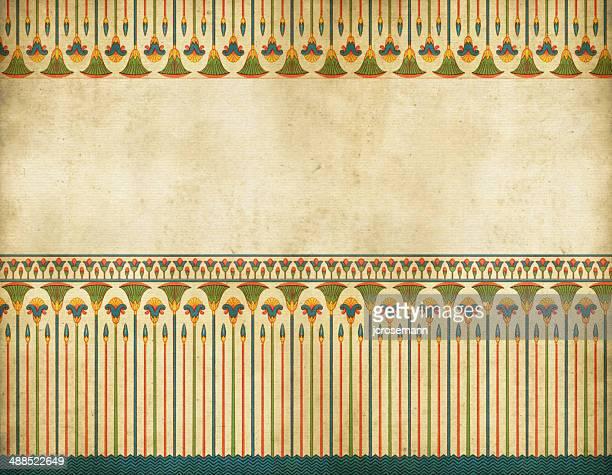ilustrações, clipart, desenhos animados e ícones de egípcio tradicional de fronteira - cultura egípcia