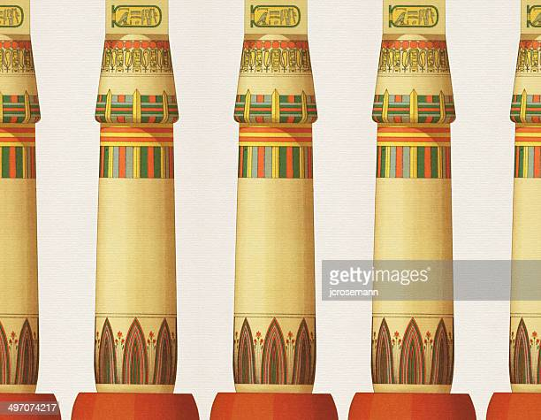 Traditional Egyptian Columns