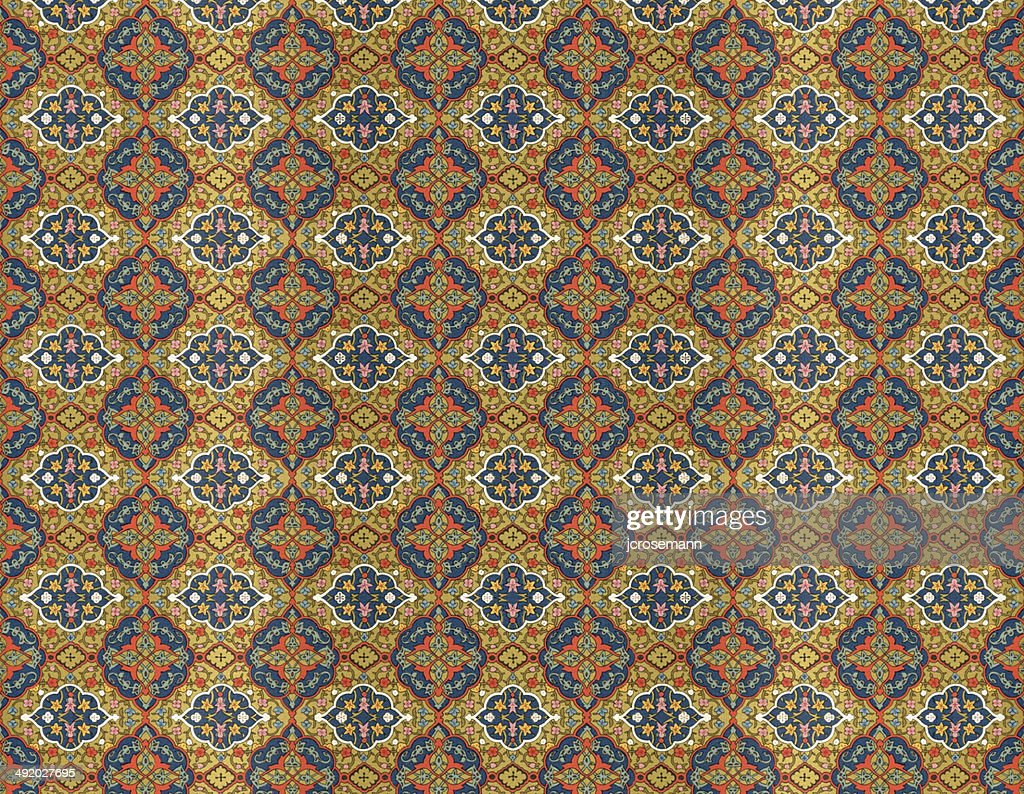 Traditional Indopersian Floral Wallpaper High Res Vector Graphic