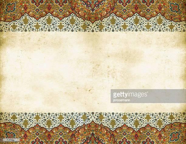 illustrazioni stock, clip art, cartoni animati e icone di tendenza di tradizionale indo-persiano vecchio schema - etnia indo asiatica