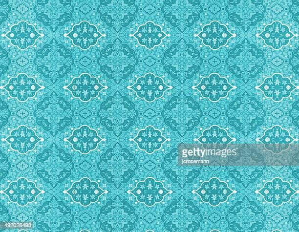 Traditional Indo-Persian Turquiose Wallpaper