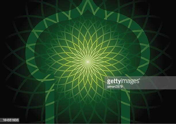 伝統的なイスラムフレーム - ラマダン点のイラスト素材/クリップアート素材/マンガ素材/アイコン素材