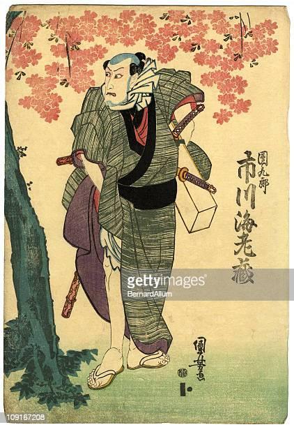 illustrations, cliparts, dessins animés et icônes de bois traditionnel japonais cerisier et acteur - cerisier japonais