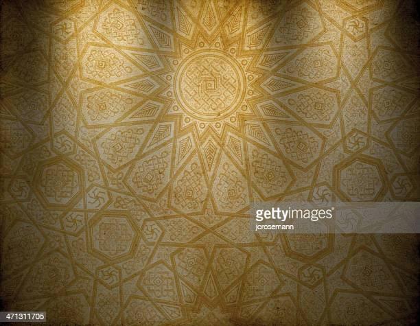 traditional oriental wallpaper - arabic script stock illustrations, clip art, cartoons, & icons