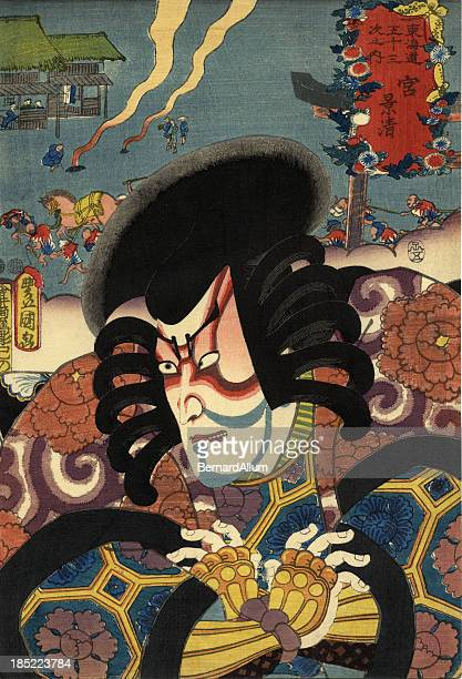 Traditional Toyokuni Japanese Woodblock print of Actor