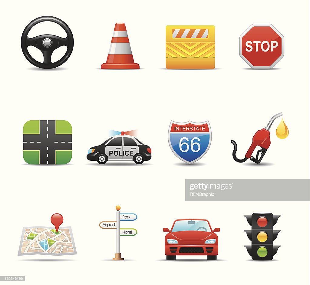 Traffic Icon Set | Elegant Series