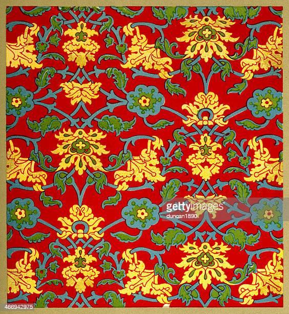 trailing vines pattern - circa 15th century stock illustrations, clip art, cartoons, & icons