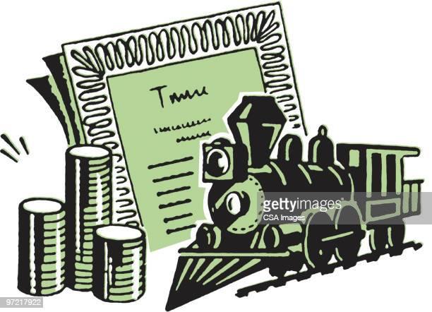 train - 証書点のイラスト素材/クリップアート素材/マンガ素材/アイコン素材