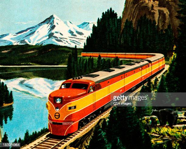 Train in the Mountians