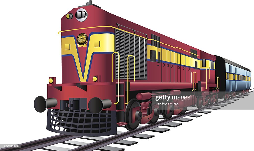 Train On Railroad Tracks High-Res Vector Graphic - Getty ...