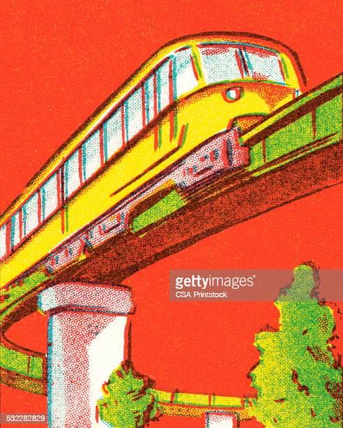 tram - monorail stock illustrations