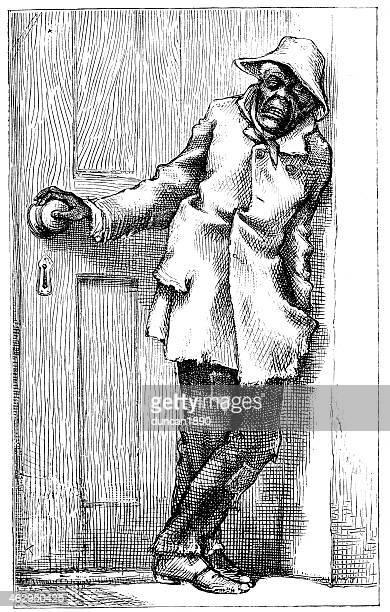 tramp - vagabond stock illustrations, clip art, cartoons, & icons