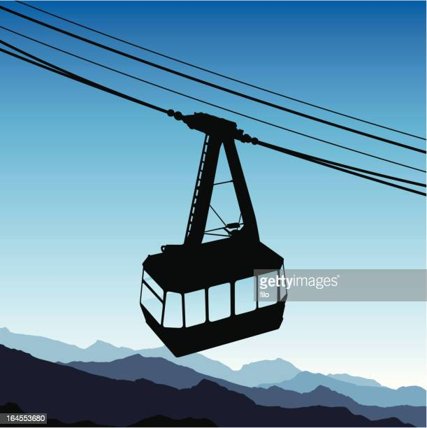 tramway - steel cable stock illustrations, clip art, cartoons, & icons