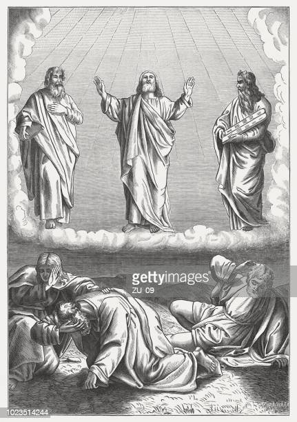 Transfiguration of Christ (Matthew 17, 1-8), wood engraving, published 1888