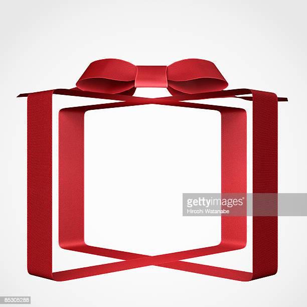 ilustrações de stock, clip art, desenhos animados e ícones de transparent present wrapped by red ribbon - caixa de presentes