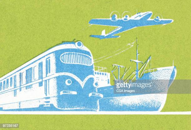 transportation - nautical vessel stock illustrations